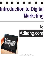 Free ebook introduction to Digital marketing Nigeria by Adhang.com