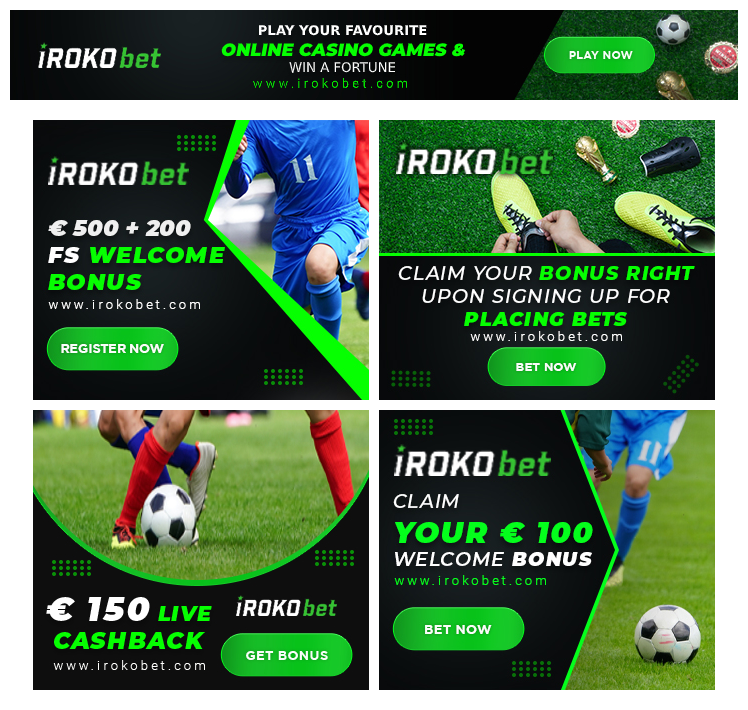 Betting advertising banners samples